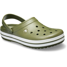Crocs Crocband Sandaler, army green/white